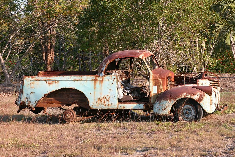 old car rusty car rusty ute rusty