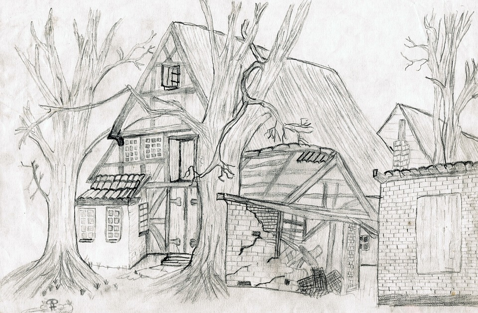 Free photo: Drawing, Pencil Drawing, Home - Free Image on Pixabay ...