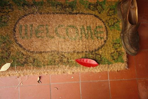 Welcome, Welcome Home, Mat, Sign, Door