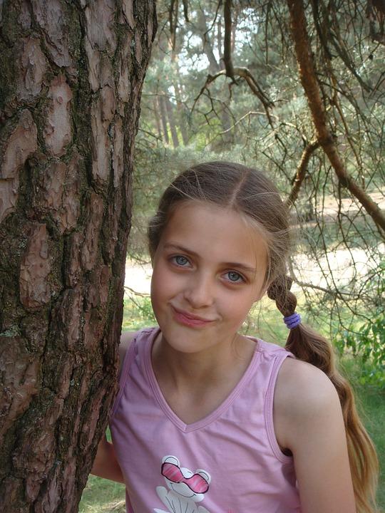 girl tree fir free photo on pixabay