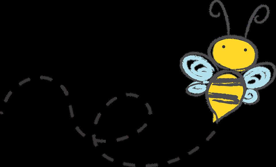 蜂, 漫画, へまをします, 蜂蜜, アイコンを, バズ, スケッチ, 黄色, マルハナバチ