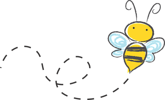 Bee Cartoon Bumble Honey Icon Buzz Sk