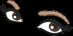 eyes, brown, drawing