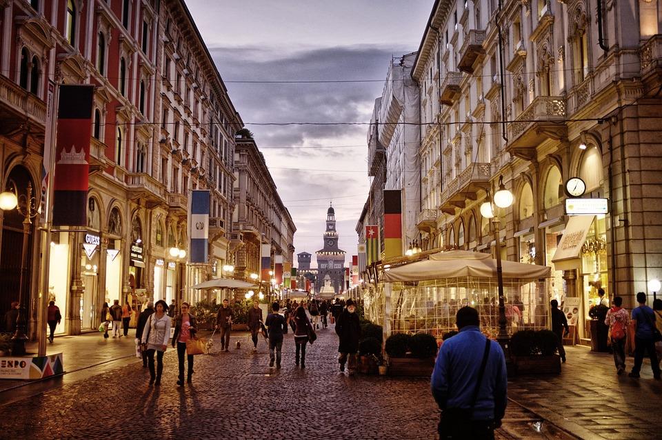City Centre, Street, Milan, Italy