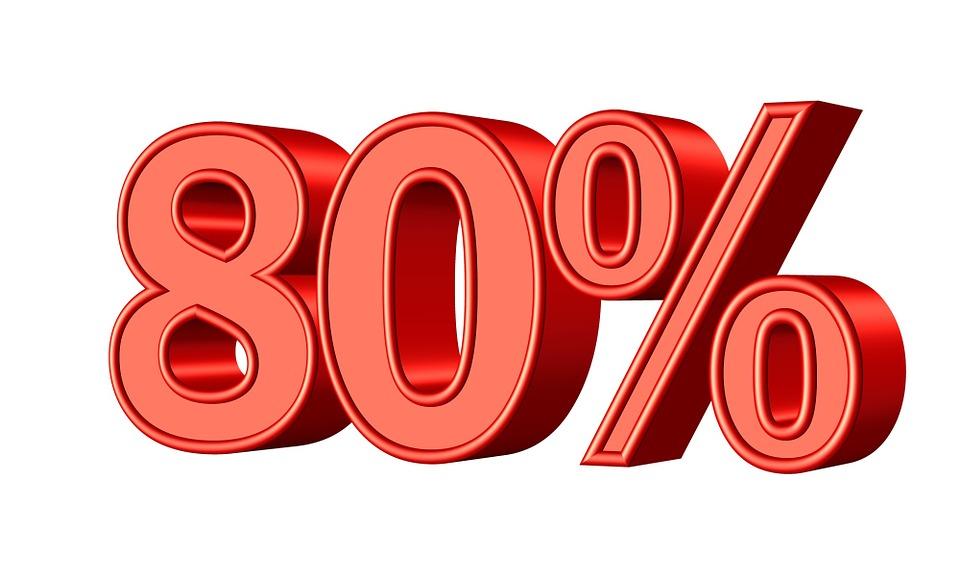 80 パーセント 統計 pixabayの無料画像