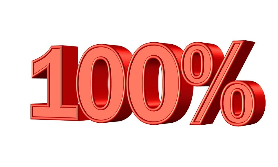 100 percent free