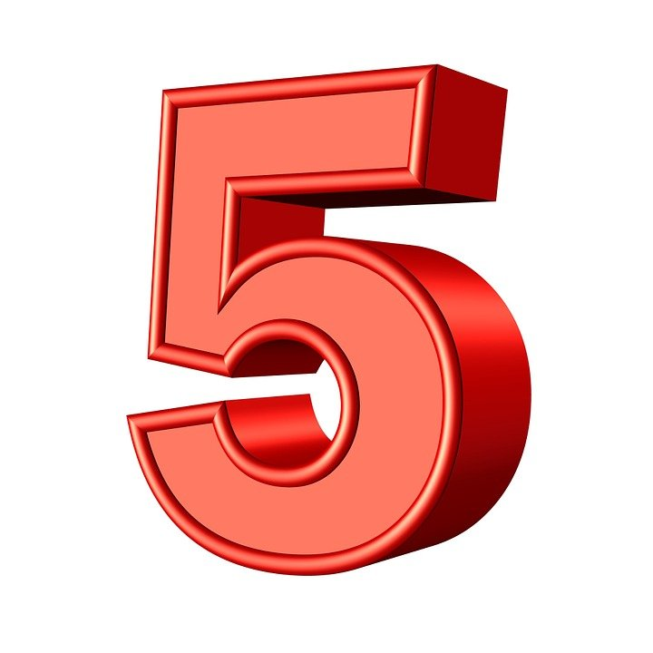 Five 5 Number - Free image on Pixabay