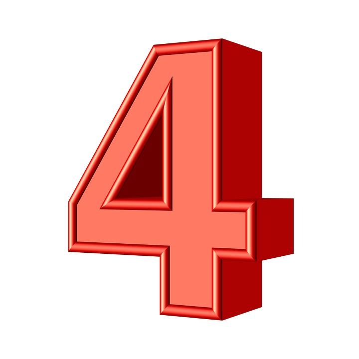 Four 4 Number - Free image on Pixabay