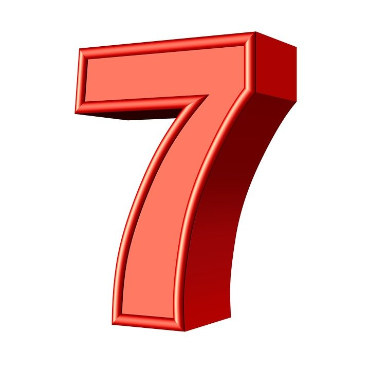 7 >> Seven 7 Number Free Image On Pixabay