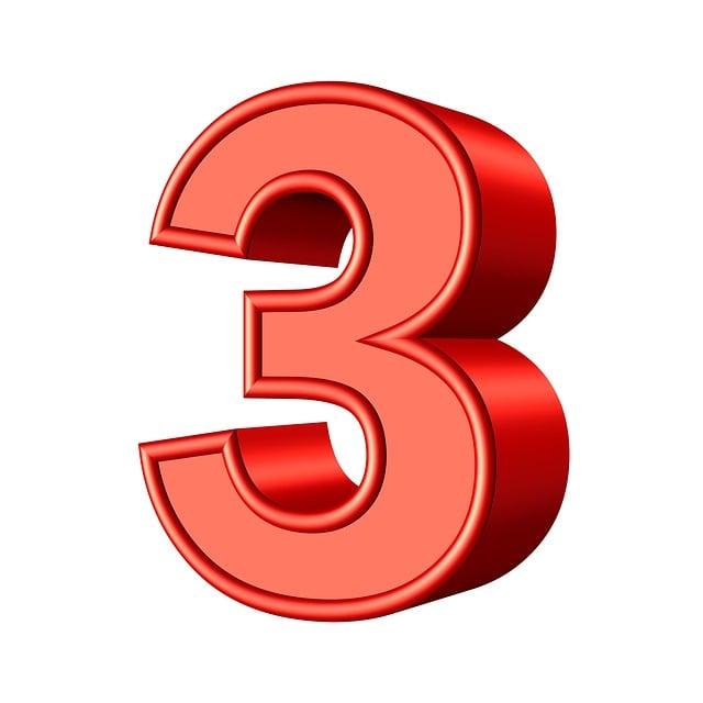 Three 3 Number  U00b7 Free Image On Pixabay