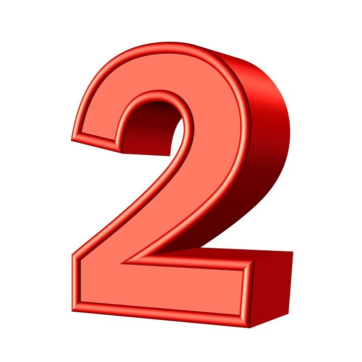 Two 2 Number - Free image on Pixabay