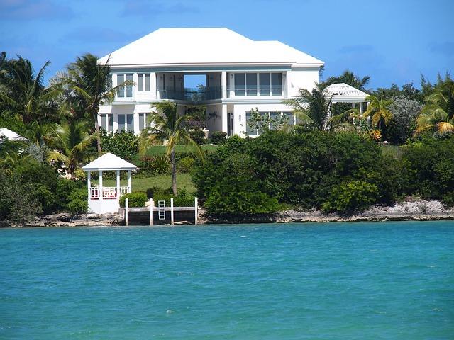 Free photo beach house ocean vacation exuma free image on pixabay 707304 - Vacation houses at the seaside ...