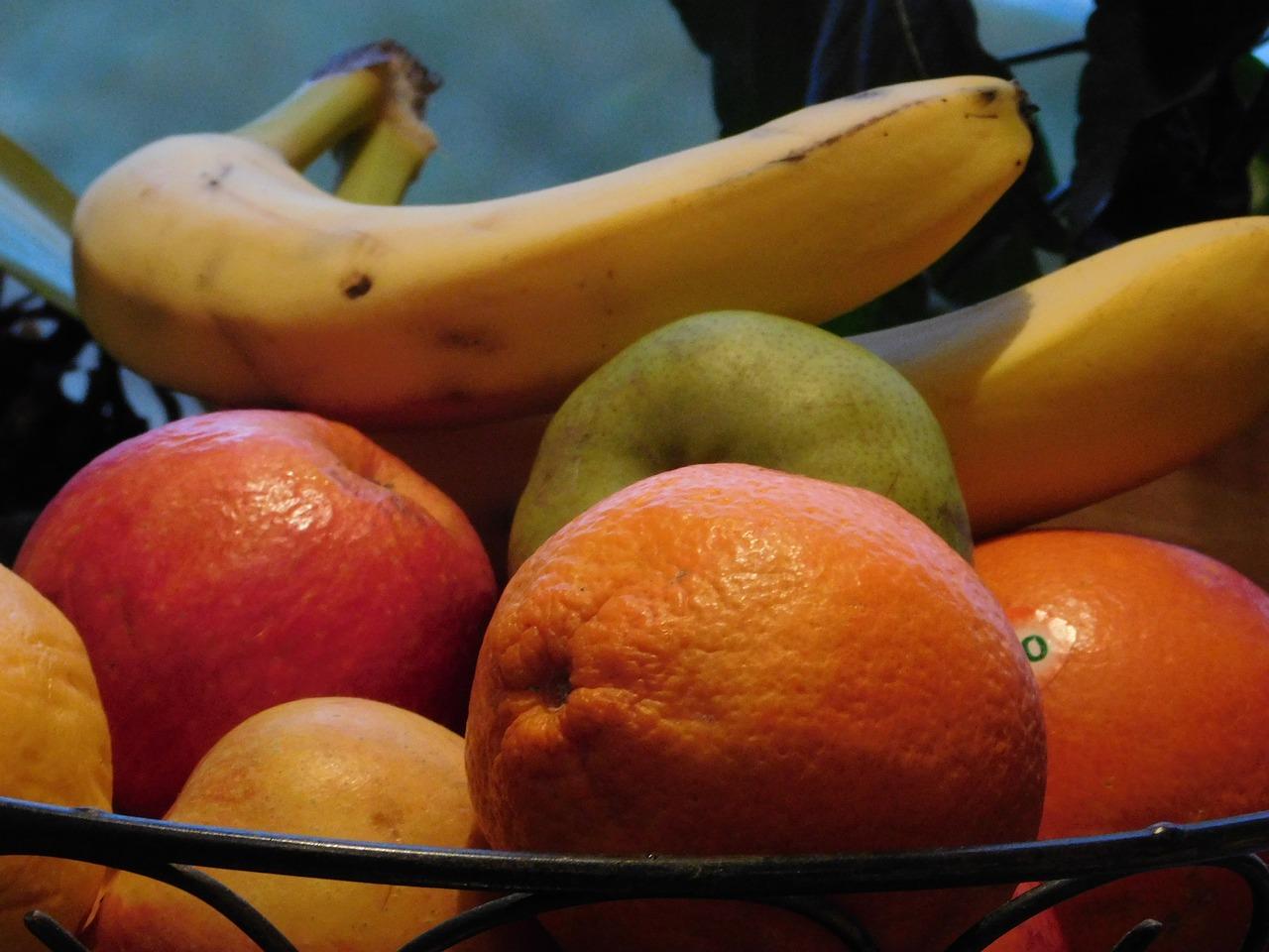 картинка яблоко банан апельсин представляет собой