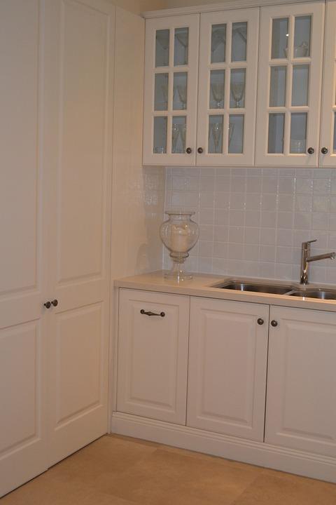 Kitchen, Cupboards, Cream