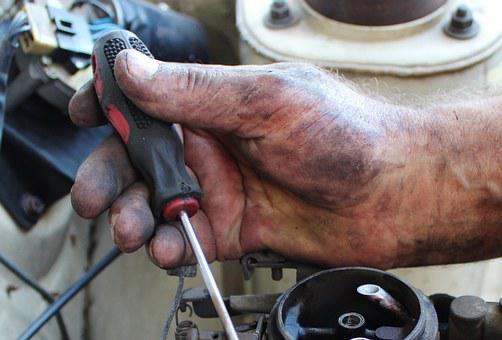 Hand, Mechanic, Carburetor, Screwdriver