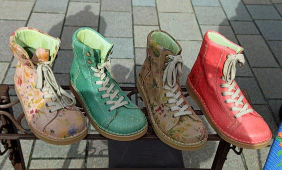 Shoes, Boots, Colorful, Clothing