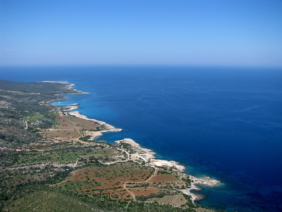 Coastline, Cyprus, Mediterranean, Sea, Landscape