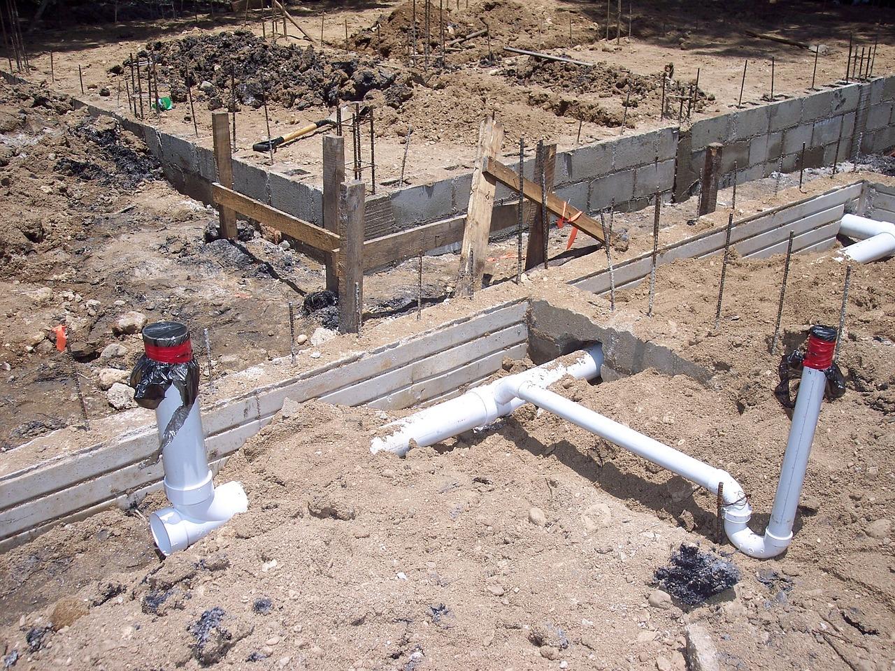Фундамент и коммуникации - канализация и водопровод 78