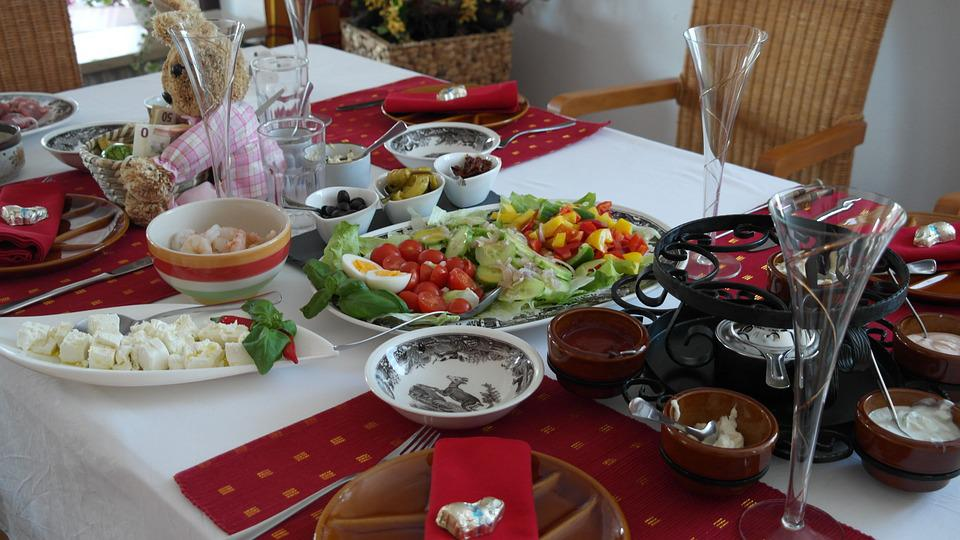 Fondue Tisch Tafel Essen Gedeckter Tisch Fest Pictures