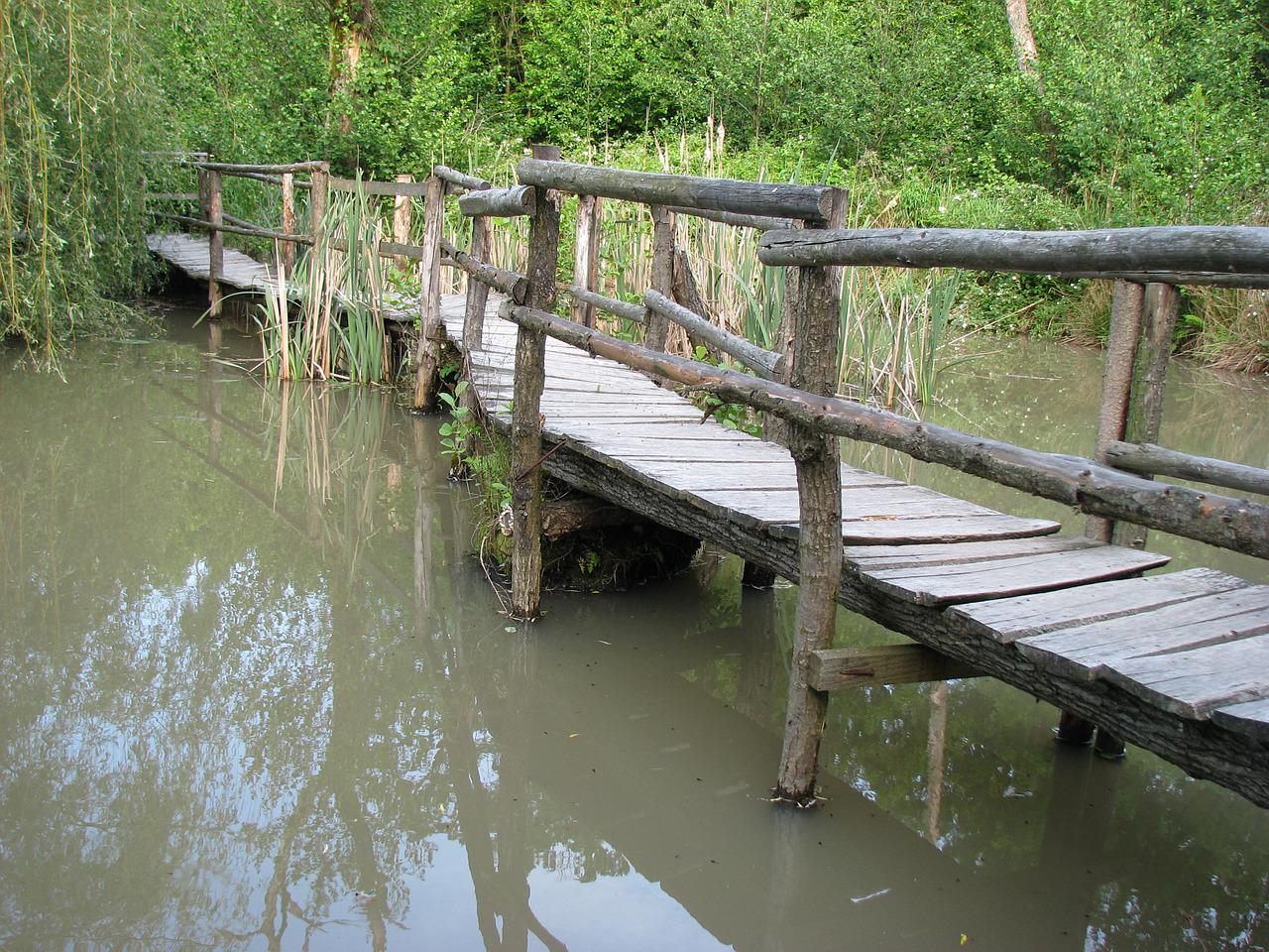 Деревянный мост на фото