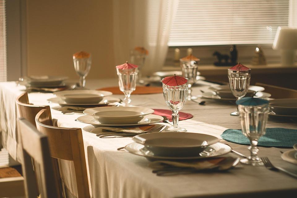 ダイニング テーブル, 食べる, ディナー, 朝食, 新鮮です, 食品, 皿, 家族, 家, 家族の家, 料理