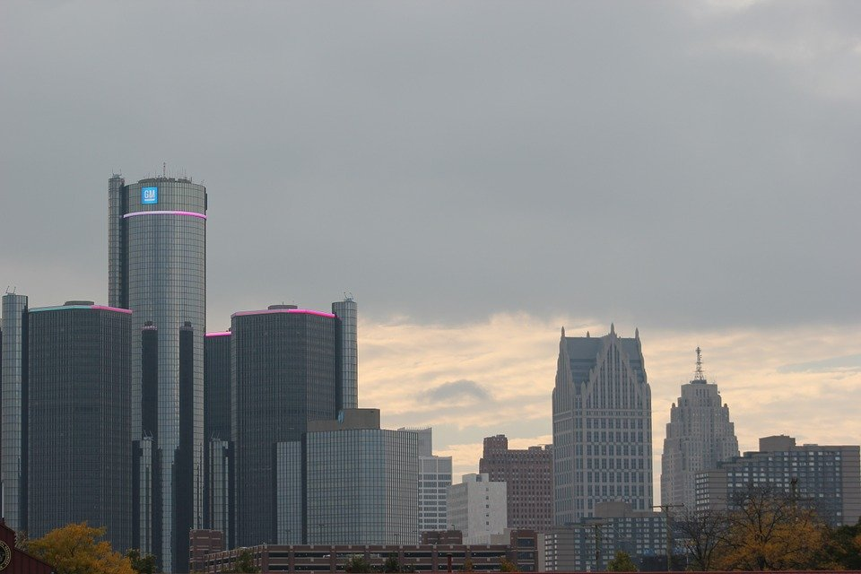 Free Photo Downtown Detroit City Skyline Free Image