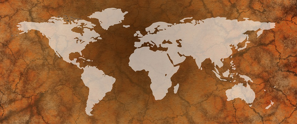 World map of the free image on pixabay world map map of the world globe earth old gumiabroncs Gallery