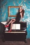 girl, piano, grand piano