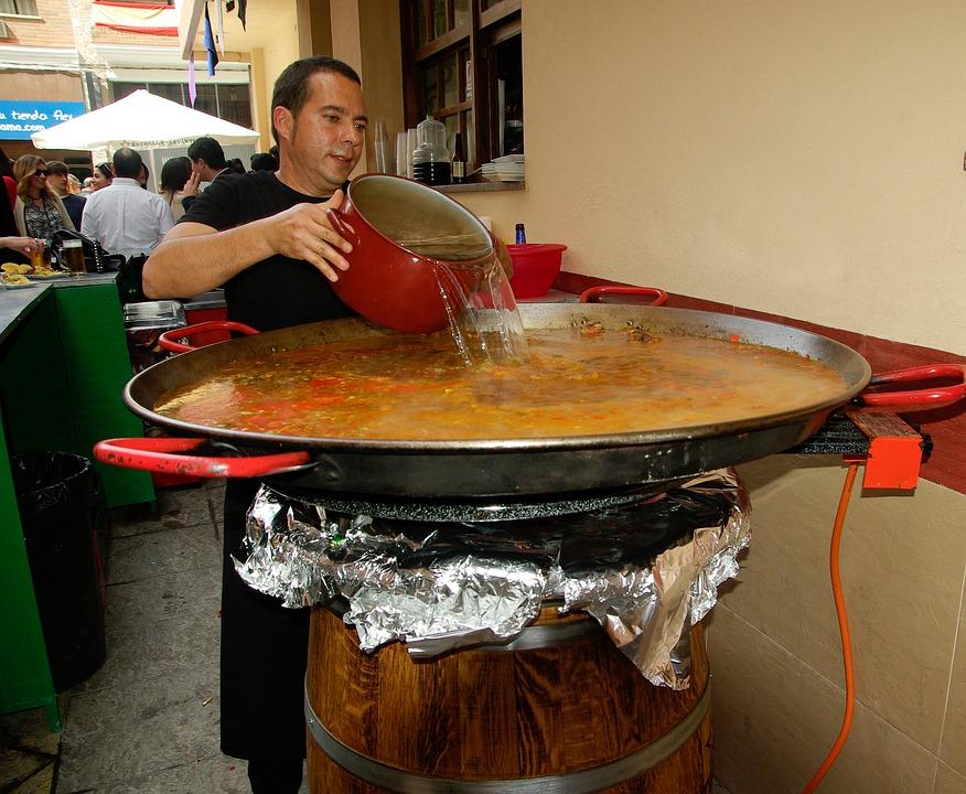 España, Paella, Restaurante, Cocinero