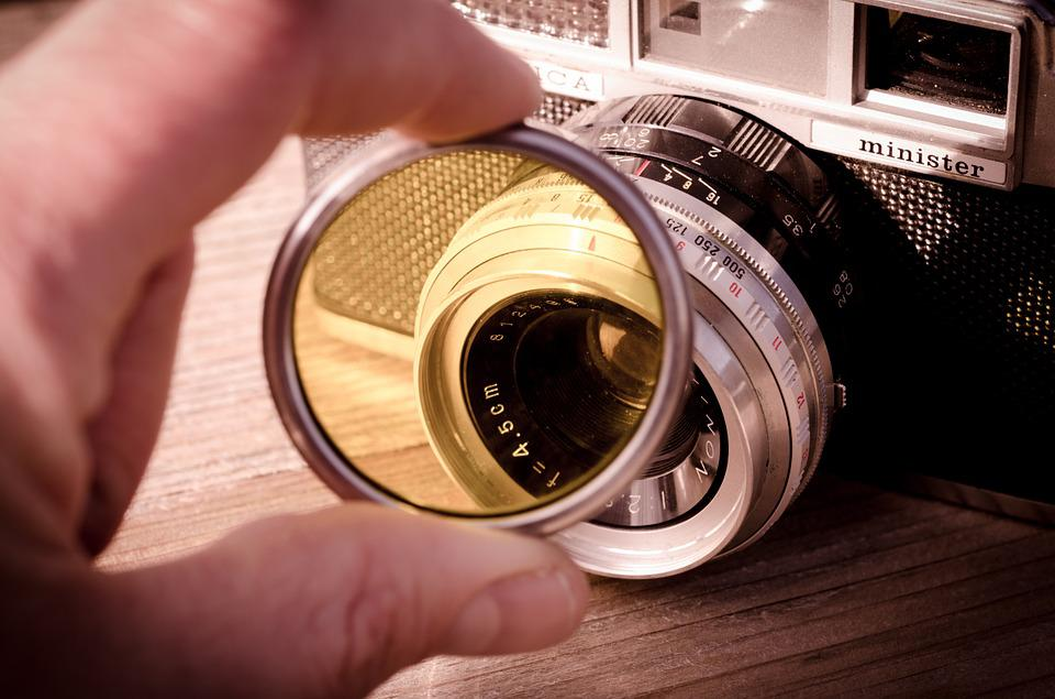 Yashica, Filter, Camera, Vintage
