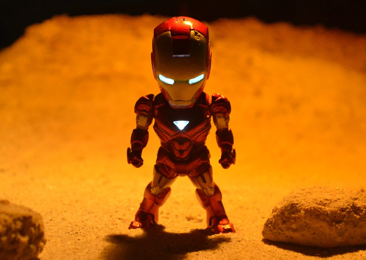 Roughly 450 separate pieces make up the Iron Man suit.