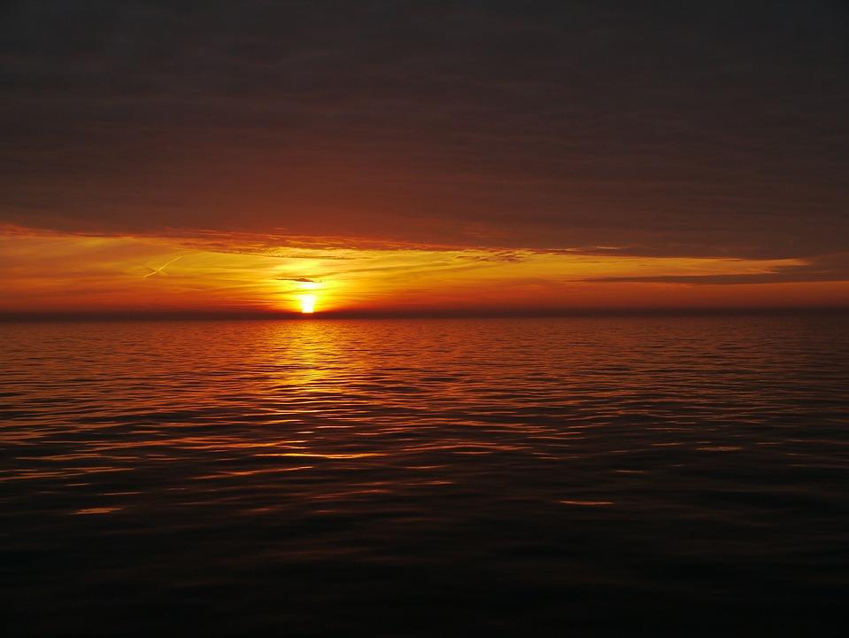 Free Photo: Sunset, Night, Evening Sky