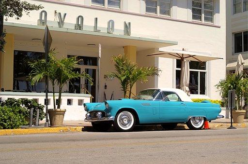 Car, Vintage, South Beach, Classic, Auto