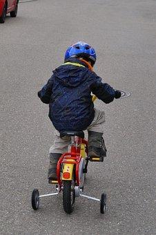 Bike, Cycling, Child, Training Wheels