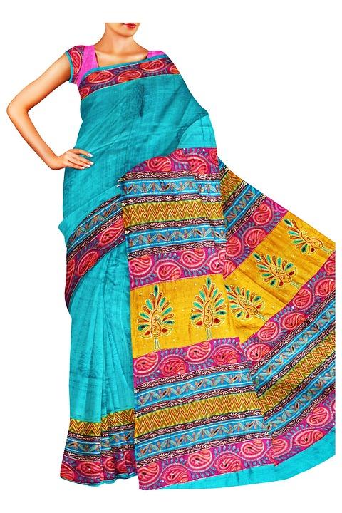 Sari, India, Étnicos, Prendas De Vestir, La Moda