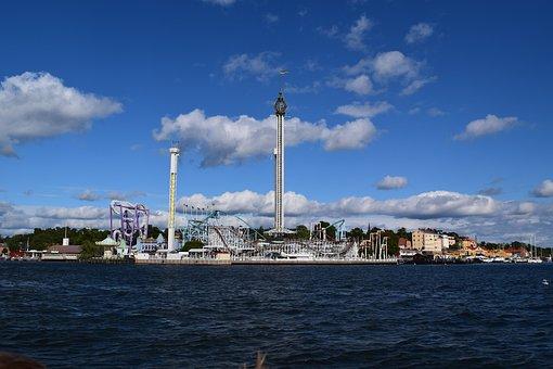 Sweden, Stockholm, Theme Park, Water