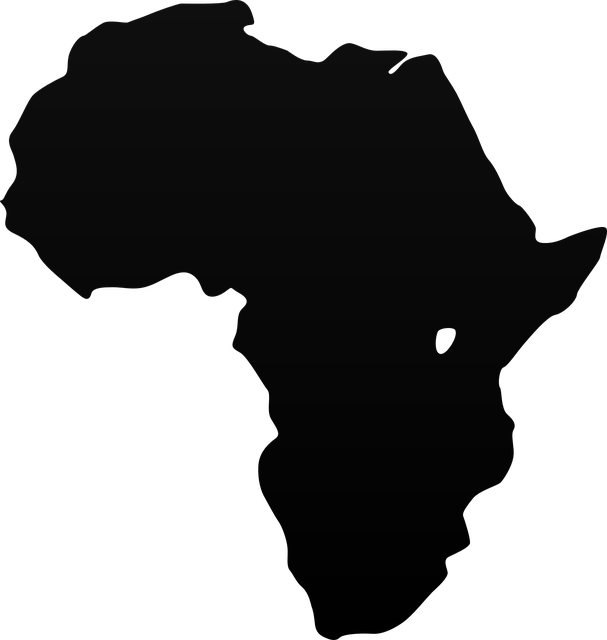 africa map vector graphic