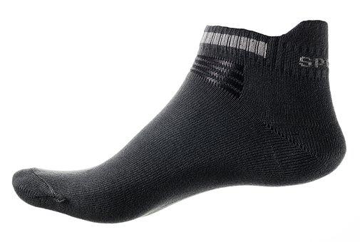 Sock, Foot, Grey, Men, Gray, White, Sock