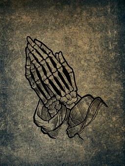 Praying Hands, Bone, Skeleton