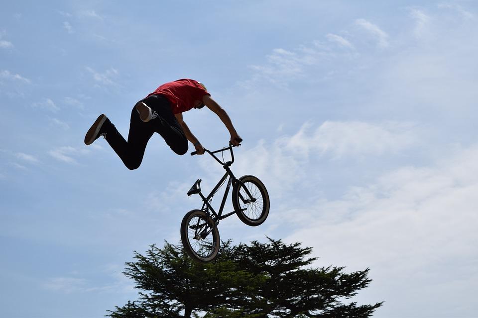bike stunt air free photo on pixabay