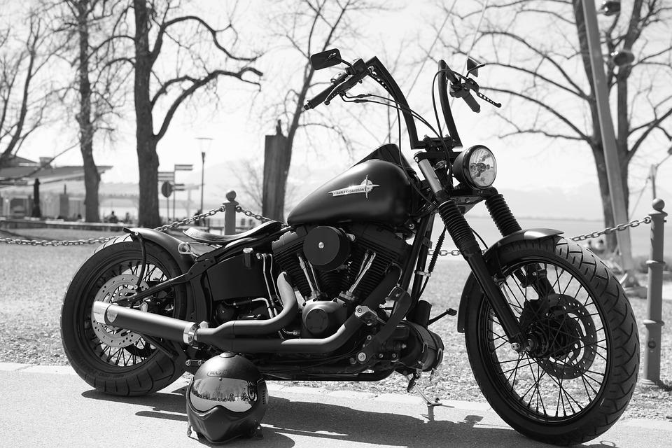 Harley Davidson Motorcycle Bike Black