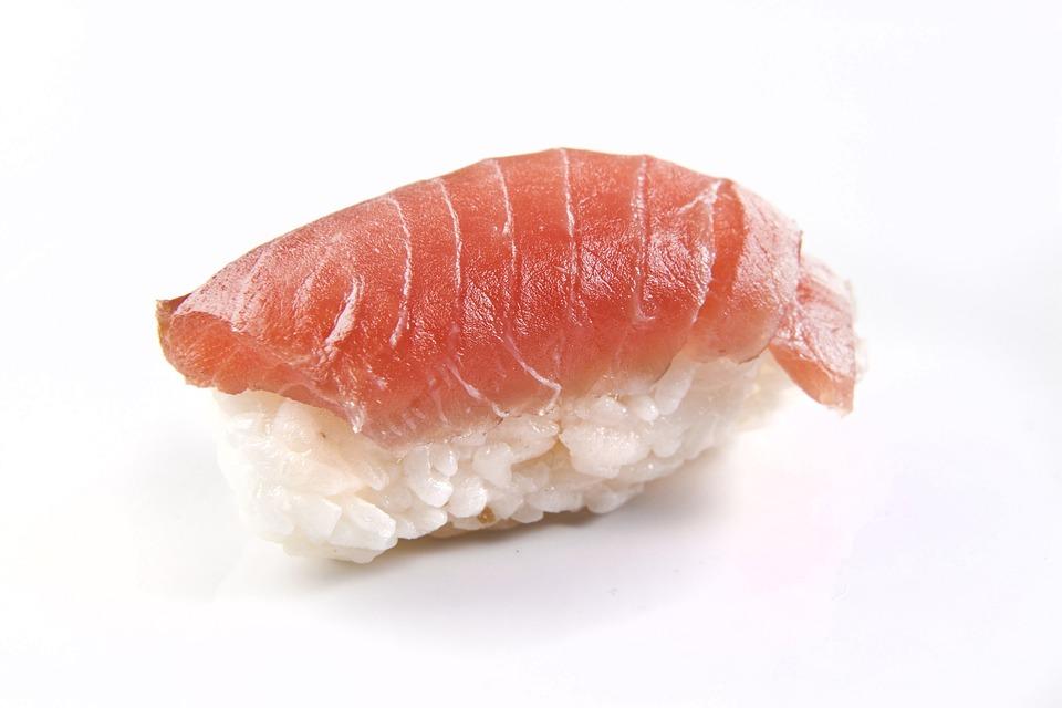 Free photo salmon fish nigiri sushi raw free image for Is sushi raw fish