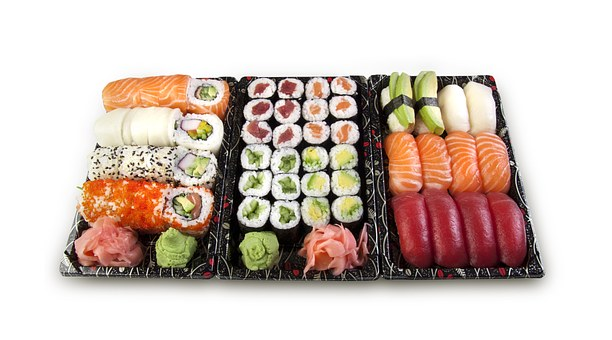 Sushi Set Nigiri Maki Fish Raw Salmon Rice