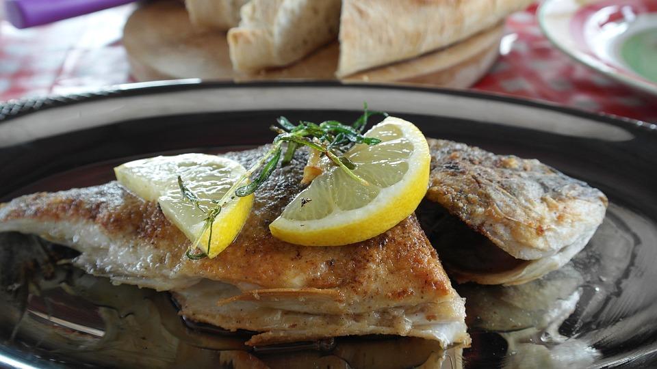 Ryby, Pražma, Smažené, Citrón, Potraviny, Večeřet, Jíst