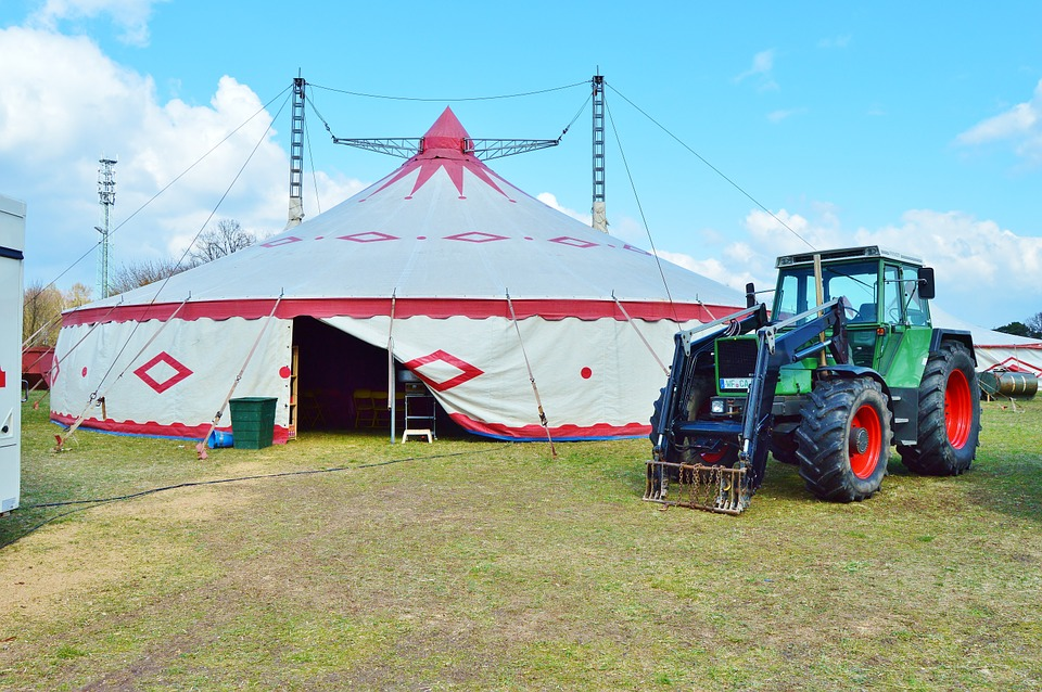 circus building tent 2 pole tent tractor & Circus Building Tent 2 Pole - Free photo on Pixabay