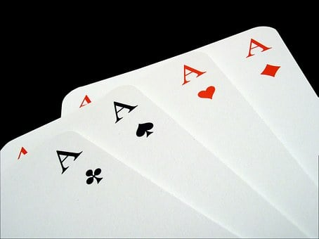 Aces, Poker, Gambling, Playing Cards