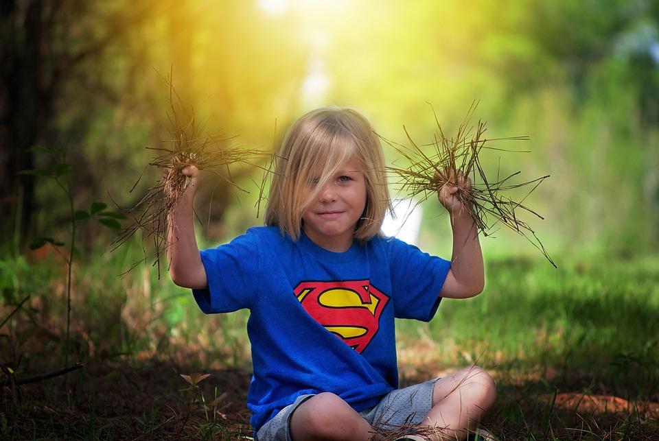 Мальчик, На Открытом Воздухе, Заседание, Природа