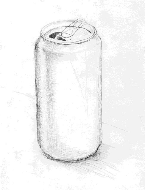 Free Illustration Tin Can Sketch Pencil Box Drink