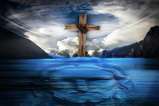 Jesus, Cross, Water, Jesus Christ
