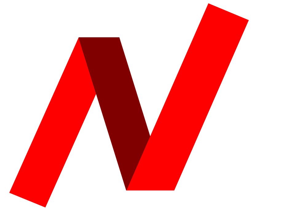 Free Illustration Letter N Word Red Strip